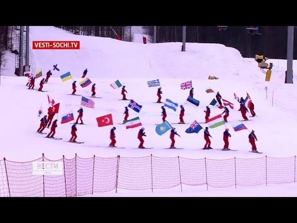 Репортаж о том как на Красной Поляне отметили 5 летие зимней Олимпиады