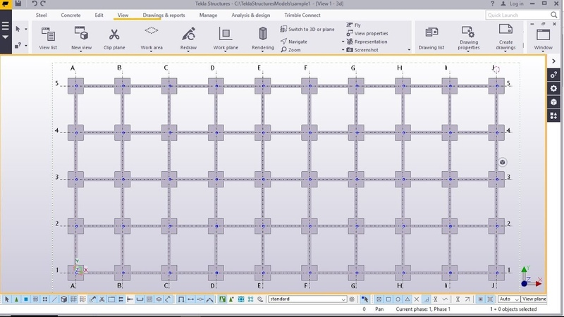 How to Create Reinforced Concrete Building   Tekla Structures 2017i