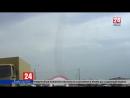 Над автотрассой под Евпаторией на низкой высоте пролетел военный самолёт