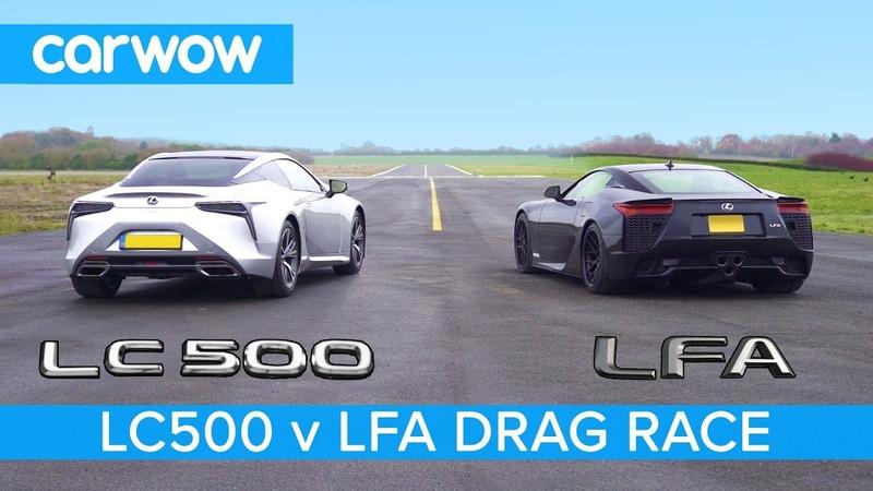 Lexus LFA vs Lexus LC500 - DRAG RACE, ROLLING RACE BRAKE TEST