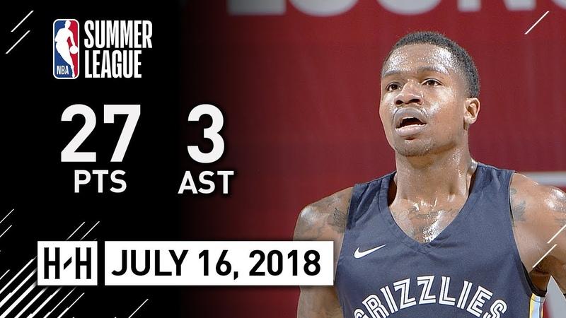 Brandon Goodwin Full Highlights vs Blazers (2018.07.16) NBA Summer League - 27 Pts, 3 Ast