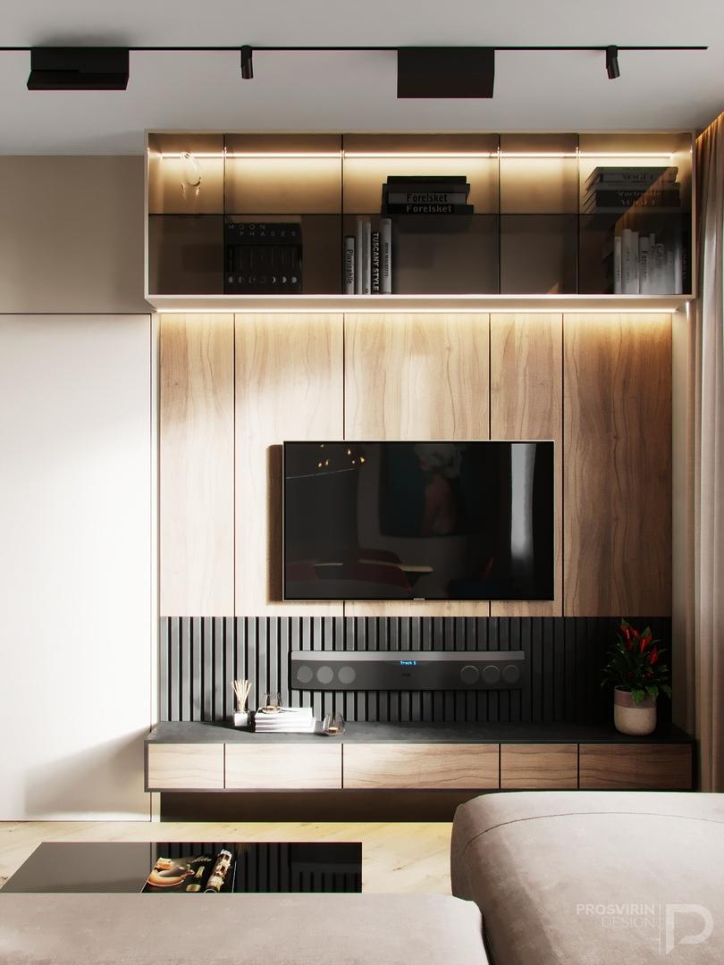 Дизайн квартиры в Москве площадью 64,5 кв.