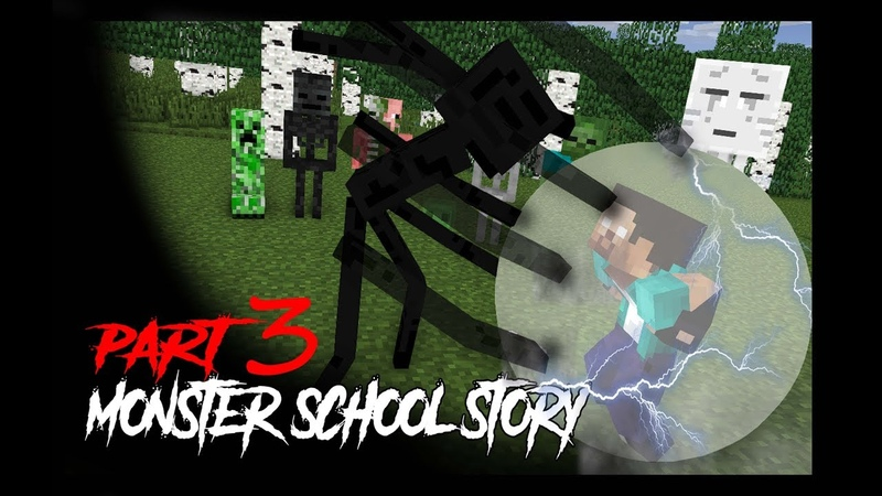 MONSTER SCHOOL Herobrine's Life 3 Monster School Story Minecraft Animation