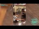 ChosenM: Папа шутит над дочерью вытирая пол ↔ Dad pranks daughter with wiping floor