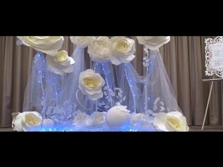 Свадебный декор банкетного зала в Hilton Garden Inn Volgograd (Karina Design)