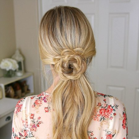 Flower Embellished Ponytail