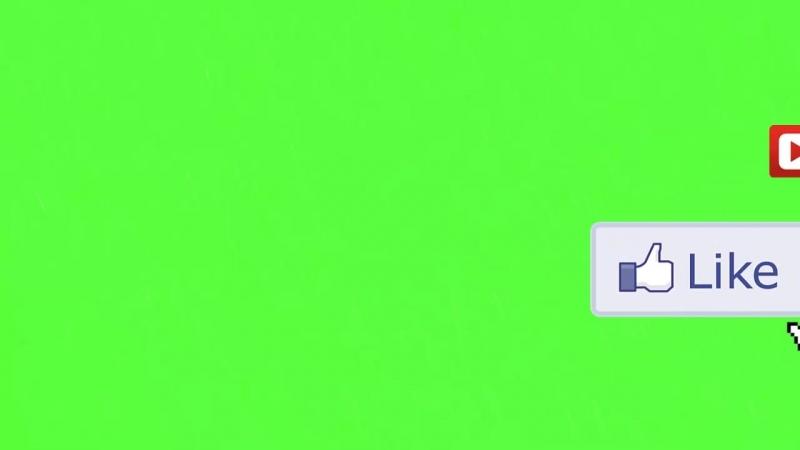 футаж подписка и лайк green screen
