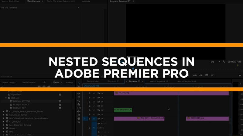 Premiere Pro Tutorial Nested Sequences by Chung Dha