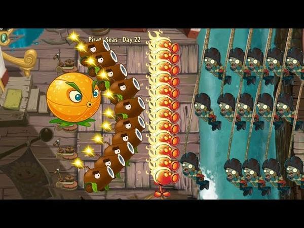 Citron, Fire Peashooter and Coconut Cannon vs Big Zombie - Pvz 2