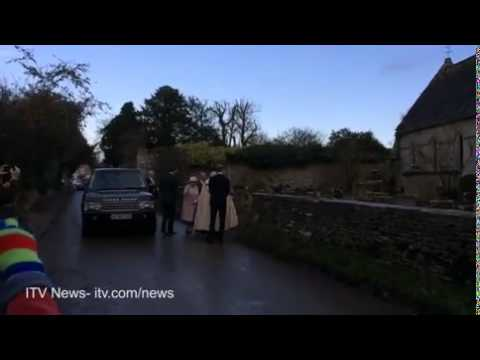 The Queen attends christening of Zara...