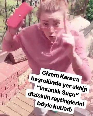 """EnMagazin on Instagram """"Gizem'in yüzü sonunda güldü! Uzun zamandır yer aldığı diziler reytinglerde başarı yakalamayıp erken final olan Gizem Kara..."""