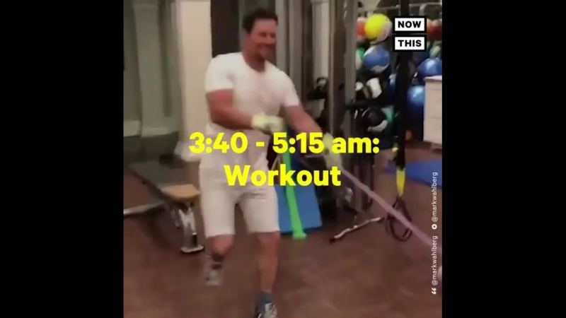 Mark Wahlberg daily routine