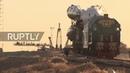 Kazakhstan: Soyuz MS-10 mounted on launch pad at Baikonur cosmodrome