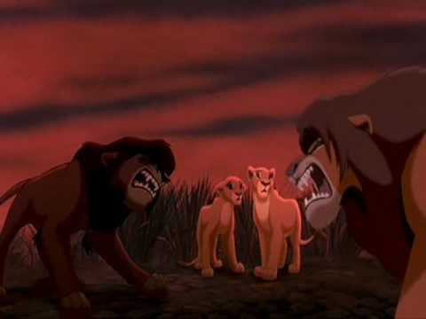 The Lion King 2 - Simba And Kovu Roar Standoff