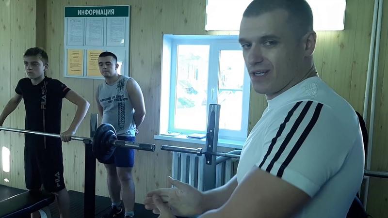 Жим штанги 47.5 кг 3х5 Иванова Владимира 13лет собств вес 49кг