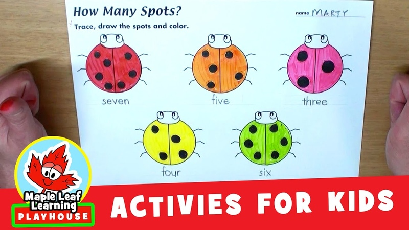 Ladybugs Counting Activity for Kids | Maple Leaf Learning Playhouse