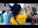 Болельщики Уругвая и Бразилии празднуют вылет сборной Аргентины. Argentina adiós!