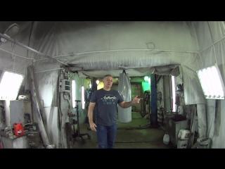 Фитнес тренировка Тай Бо в гараже