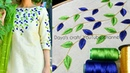 Aari work leaf filling design on kurti   short long stiches