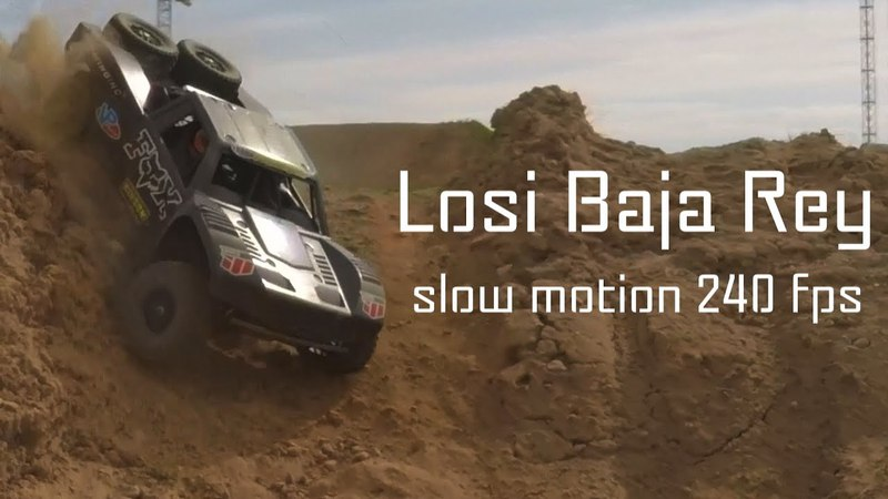 Losi Baja Rey slow motion 240 fps