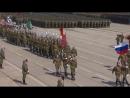Тренировка парада Победы на полигоне Алабино