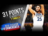 Derrick Rose Full Highlights 2018.11.07 vs Lakers - 31 Pts, 5 Asts, 7 Threes! | FreeDawkins