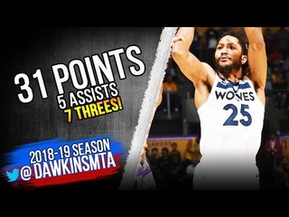 Derrick Rose Full Highlights 2018.11.07 vs Lakers - 31 Pts, 5 Asts, 7 Threes! | FreeDawkins