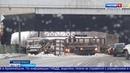 Фура с контейнером на полчаса парализовала движение по пр Ленинградский в Архангельске