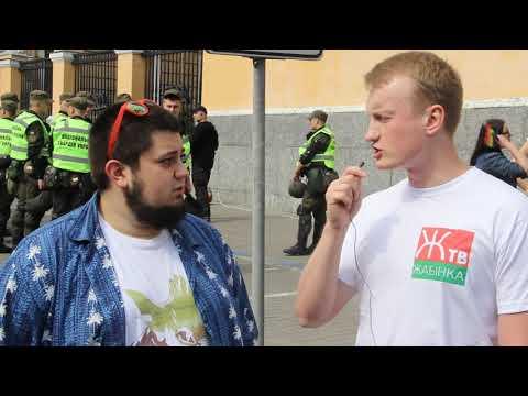 Евгений Вольнов на гей-параде. Жабинка ТВ
