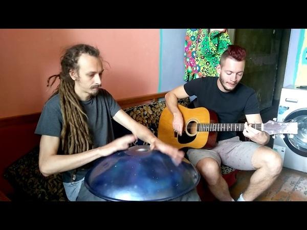 Hang drum with guitar Хэнг драм с гитарой