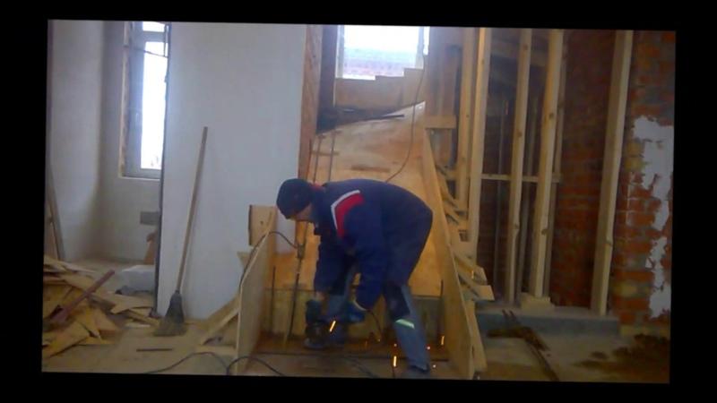 Как армировать лестницу 1. День 5, часть-3.