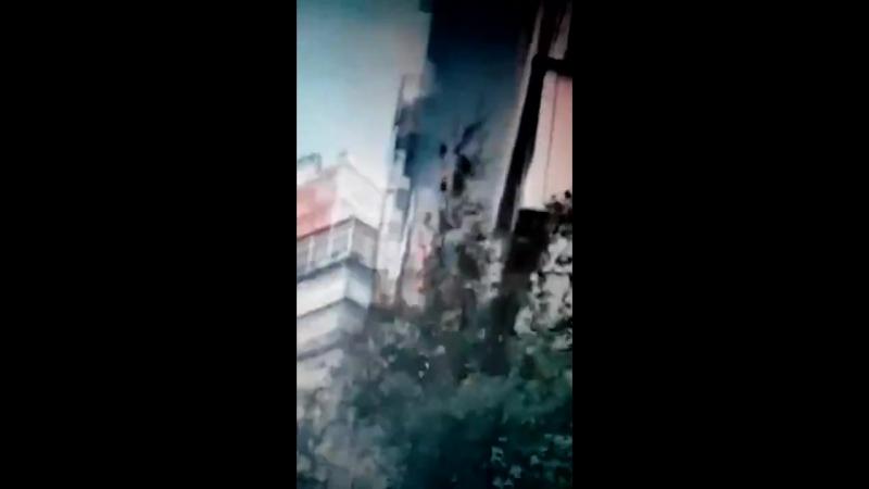 Пожар произошёл в Москве