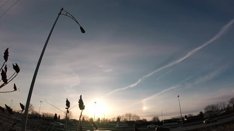 2018 Remake Timelapse Artificial Cirrus Clouds Seeding 22 march