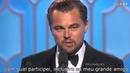 Leonardo DiCaprio Discurso Globo de Ouro 2016 LEGENDADO