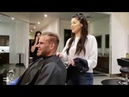 Jay Cutler gets a haircut at Atelie by The Square Salon before leaving for Dubai