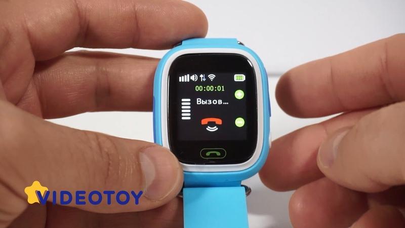 Детские часы GPS трекер с цветным сенсорным экраном Smart Baby Watch Q80 - Q90 (GW100) - видео обзор