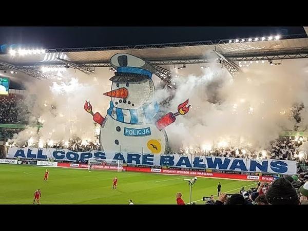 Legia Warszawa vs Piast Gliwice All Cops Are Bałwans Bałwan Snowman in Polish 15 12 2018
