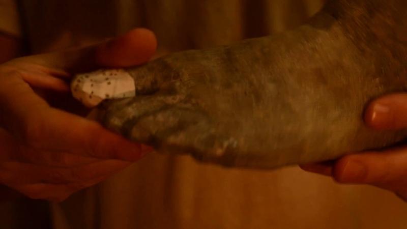 нога от бумажной статуи пробная деталь