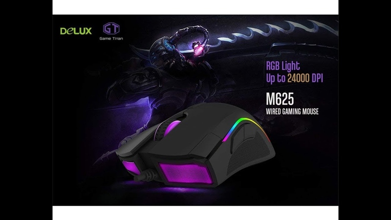 Игровая мышка Delux M625 | Обзор посылки с Китая