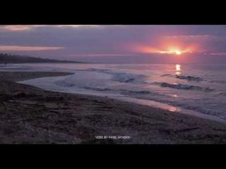 Azov sea sunset. Relax video. 4к 60 fps