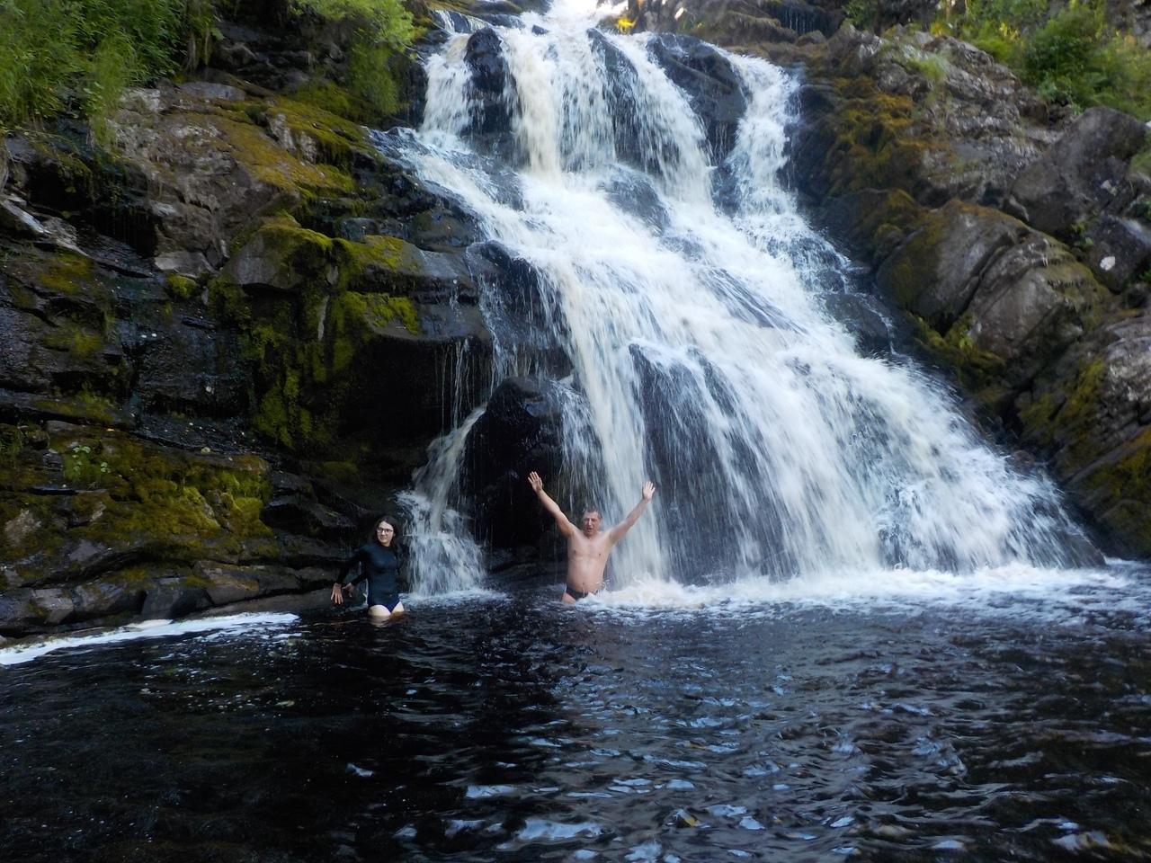 Однодневная поездка в Карелию. Двойной водопад Юканкоски (