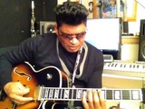 All George Benson's SWEEP DOWN TRIADS over C minor or E fla