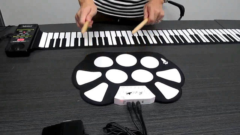 TVC-Mall: Portable Electronic Roll up Drum Pad Kit Silicon Foldable with Stick