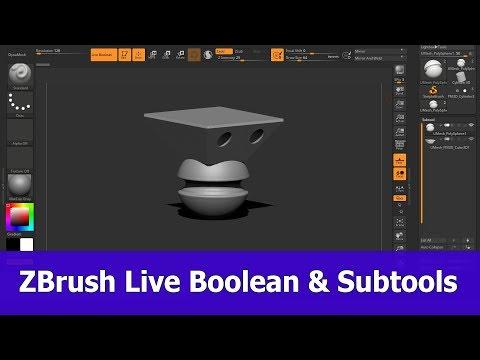 ZBrush Live Boolean Subtools