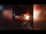 ВАЗ-2114 загорелся на заправке в Подольске