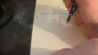 ASMR - Writing list of countries by population - POV