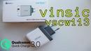 VINSIC VSCW113 [ЗАРЯДНОЕ УСТРОЙСТВО Quick Chardge 3.0]