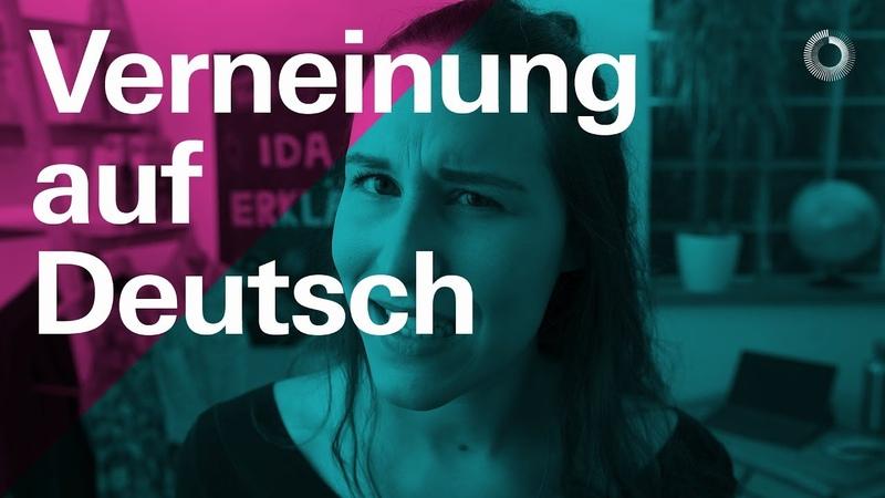 Verneinung auf Deutsch — Learn German with Ida | Ida erklärt A2/B1