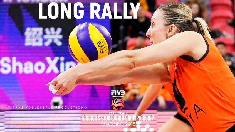Volleyball LONG RALLY (Eczacibasi vs. Praia Clube) Women's Club World Championships 2018