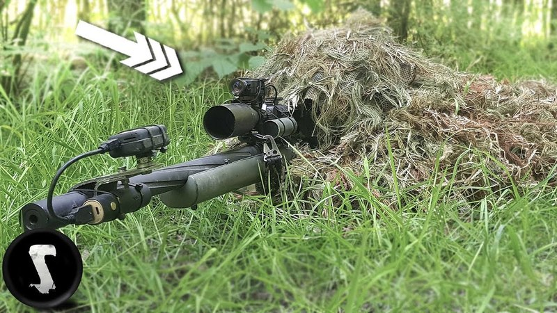 Using a Professional Ghillie Suit vs Airsoft Players IN GAME
